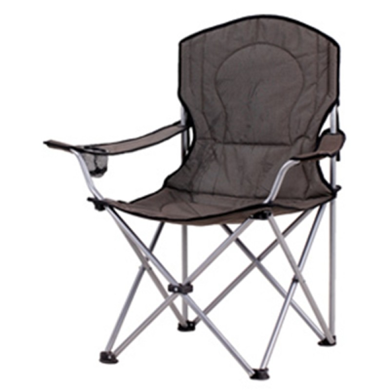 sturdy padded folding steel chair for camping
